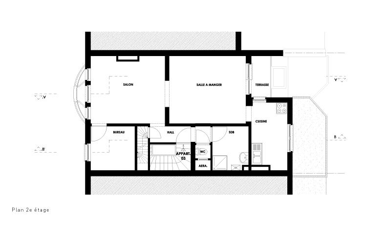 atelier4cinquieme_atelier 4/5_architecture_rénovation_transformation_appartement_terrasse_annexe_bruxelles_belgique