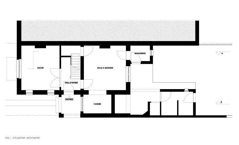 atelier4cinquieme, architecture, rénovation, maison unifamiliale, bruxelles, architectes, transformation, atelier45,florent grosjean, jean françois glorieux