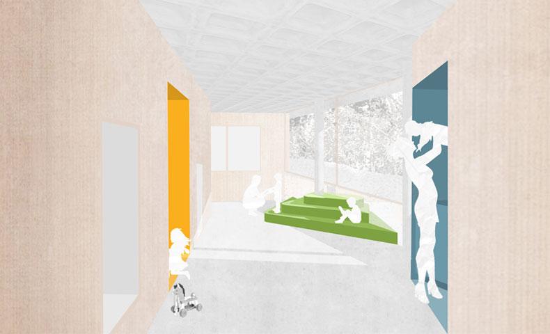 atelier4cinquieme, atelier 4/5, architecture, mobilier, design, crèche, construction neuve, habay la neuve, concours, petite enfance, bruxelles