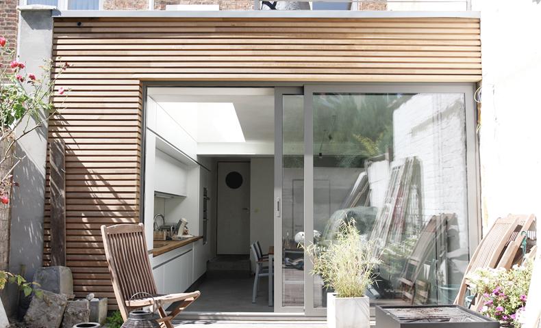 atelier 4/5 - atelier4cinquieme - architecture - rénovation - transformation d'une annexe arrière - bruxelles - belgique