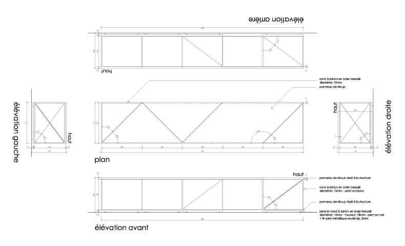 atelier4cinquieme_atelier 4/5_architecture_design_récup_aménagement urbain_banc_galerie bortier_bruxelles