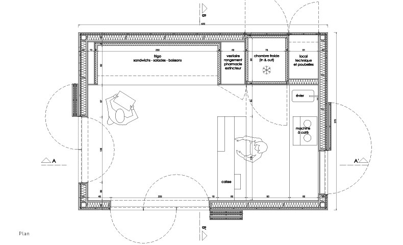 atelier4cinquieme, atelier 4/5, architecture, mobilier, design, construction neuve, kiosque, zinc, fastfood, slowfood, restaurant, bruxelles, belgique