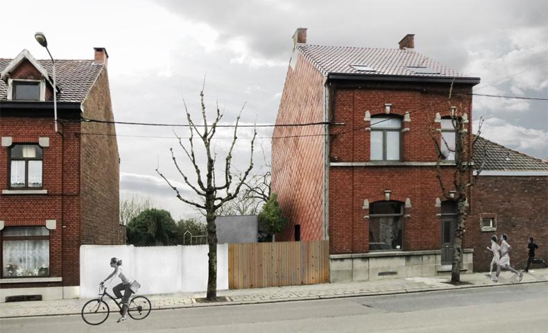 atelier 4/5, atelier4cinquieme, architecture, rénovation, maison, bruxelles, wallonie, annexe, extension, façade arrière, ossature bois