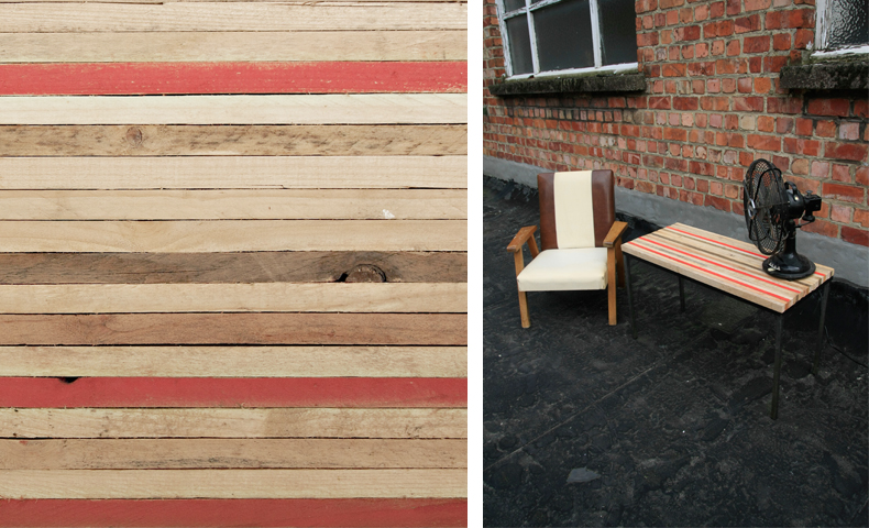 atelier 4/5 - atelier4cinquieme - mobilier - reuse slow design - brocante - table basse - récup - 3 red lines table