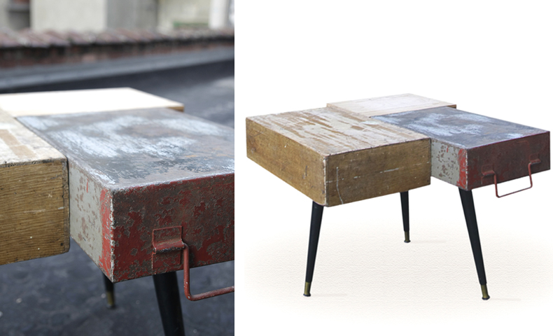 atelier 4/5 - atelier4cinquieme - mobilier - reuse slow design - brocante - table basse - boites - box table