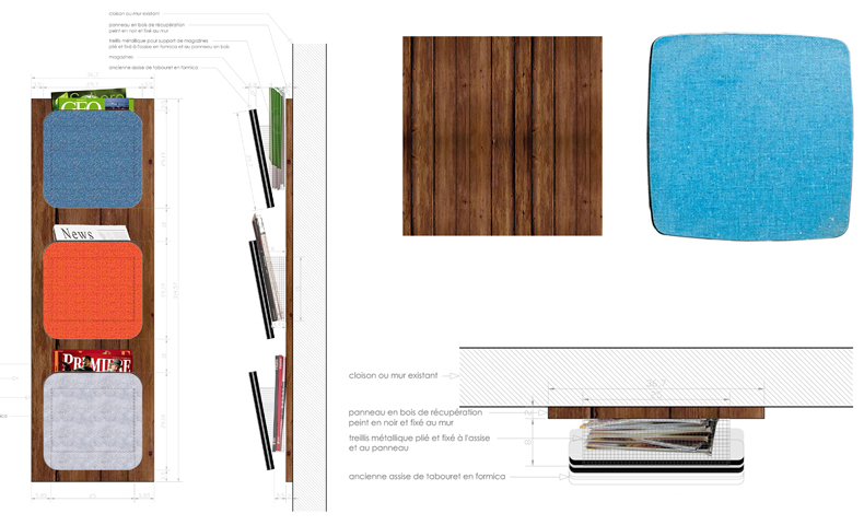 atelier4cinquieme_atelier 4/5_architecture_design_récup_exki_porte magazine_formica_bruxelles