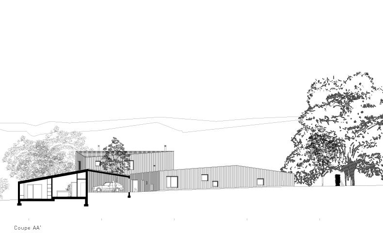 architecture, construction neuve, ossature bois, architectes, bardage bois, atelier 4/5, atelier4cinquieme, 4/5 architecture