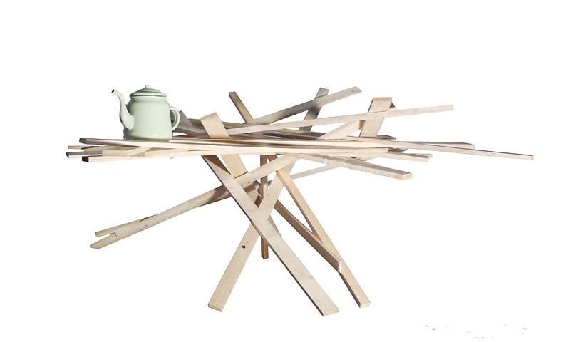 atelier 4/5 - atelier4cinquieme - mobilier - reuse slow design - brocante - récup - table d'appoint - planche de bois - wood table #1