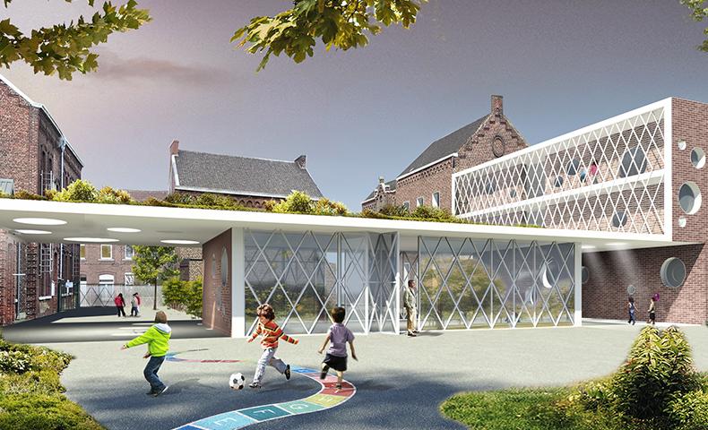atelier4cinquieme, architecture, design, rénovation, construction neuve, école, mobilier, bruxelles, atelier45, marcinelle