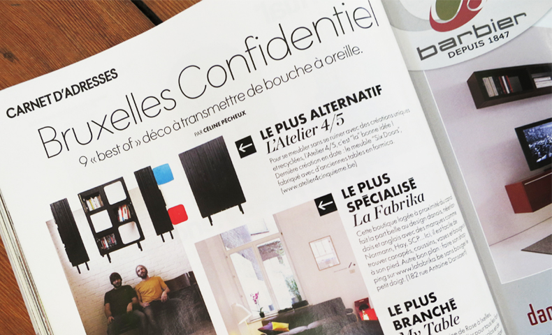 atelier4cinquieme_atelier 4/5_press_elle décoration_bruxelles confidentiel_design_architecture_récup