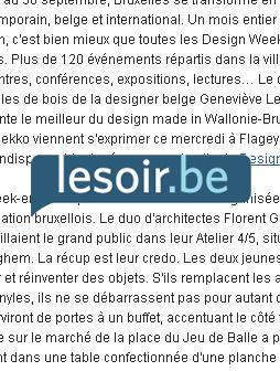 atelier 4/5 - atelier4cinquieme - mobilier - design - le soir - Brussels Design September 2012 - Open Doors