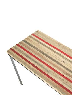 atelier 4/5 - atelier4cinquieme - mobilier - reuse slow design - brocante - table basse - récup - 3 red lines table