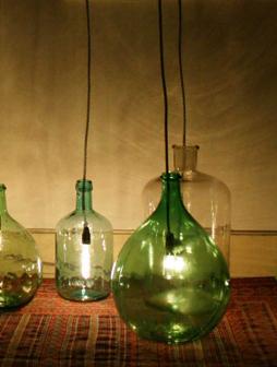 atelier 4/5 - atelier4cinquieme - mobilier - reuse slow design - brocante - dame jeanne - lampe