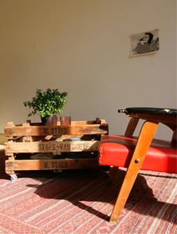 atelier 4/5 - atelier4cinquieme - mobilier - reuse slow design - brocante - cageot - table basse - Bulb Table