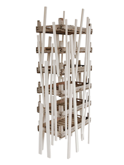 atelier 4/5 - atelier4cinquieme - mobilier - reuse slow design - brocante - récup - étagère - cageot - slats crate shelf